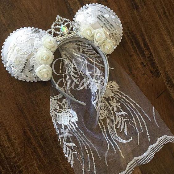 Princess Bride 👰🏻 #bridalears #disneybride #disneywedding #disneybachelorette #brideears