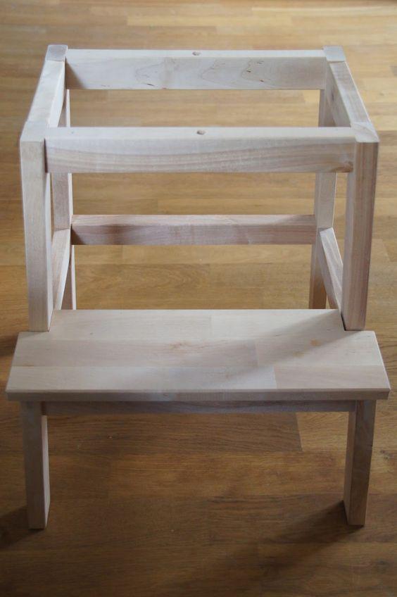 Gartenmobel Abdeckung Rund :  für einen Learning Tower (Lernturm) aus IkeaHocker Bekväm