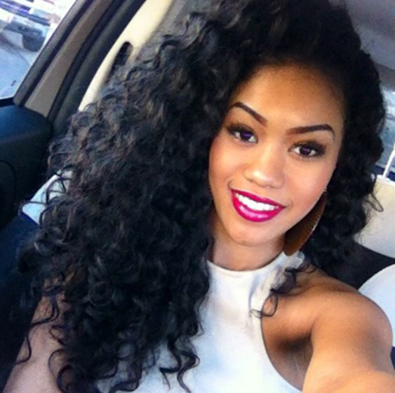 Peachy Black Girls Hairstyles Long Curly Weave And Curly Hair On Pinterest Short Hairstyles For Black Women Fulllsitofus