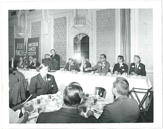 This is a photograph of an American Cancer Society staff and volunteer conference held in Gary, IN.  It is undated, but I'm estimating it's from the 1950s.  From my personal collection.