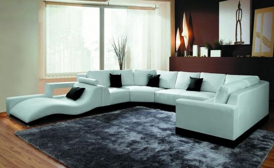 Modern Spacious Sectional Sofa With A Chase. This Two Toned Sectional Comes  With Bonded Leather Upholstery Where Body Touches The Sofa And Leather U2026