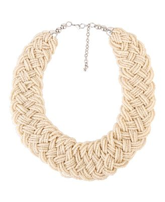 i have this in black... but i think i need to invest in the cream! Beaded Collar Necklace