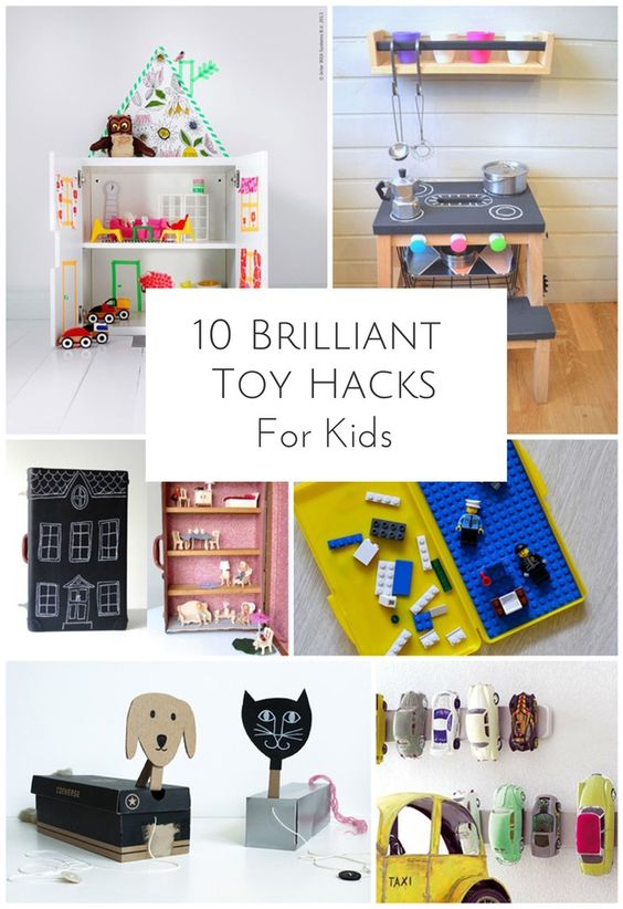 Awesome toy hacks for kids. Turn everyday objects into cool toys! #kidshacks #kidstoys