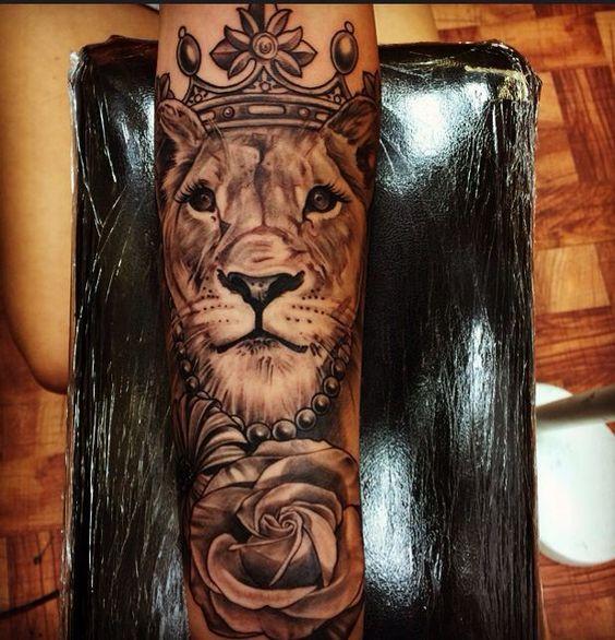 female lion tattoo - Google Search