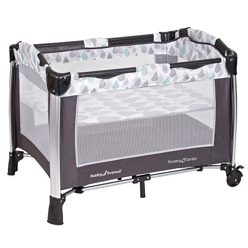 Baby Trend Go Lite Elx Nursery Center Drip Drop Blue