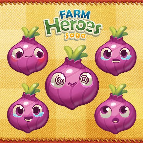 "Farm Heroes Saga en Twitter: ""The faces of an onion Cropsie…"