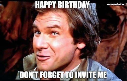 Star Wars Luke Skywalker Happy Birthday Meme Birthday Meme Birthday Humor Funny Birthday Meme