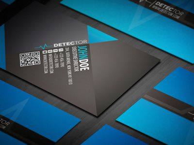 Detector business card dribbble
