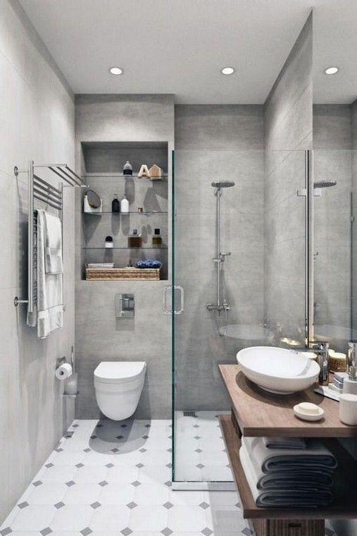 27 Contemporary Bathrooms Designs To Inspire You Small Bathroom Makeover Small Bathroom Remodel Small Bathroom