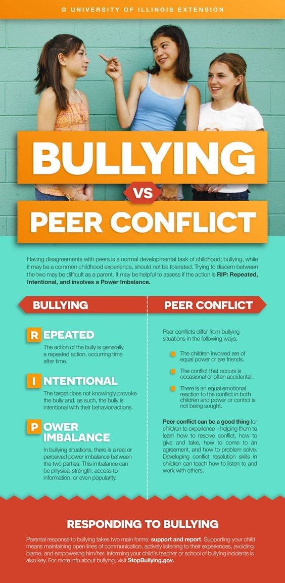 """A must-read for parents – how to tell the difference between """"normal"""" peer conflict vs. bullying.:"""