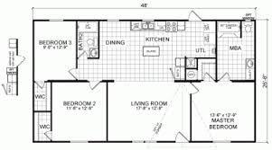 Image Result For Floor Plan 3 Bedroom 2 Bath 44x28 Manufactured Homes Floor Plans Floor Plans House Floor Plans