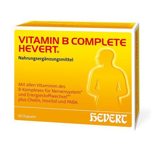 Vitamin B Complete Hevert Kapseln 60 St A 0 33 G Vitamin B Vitamine Nahrungserganzung Mehr Entdecken Pzn 12444110 Vitamin B Vitamine Stoffwechsel