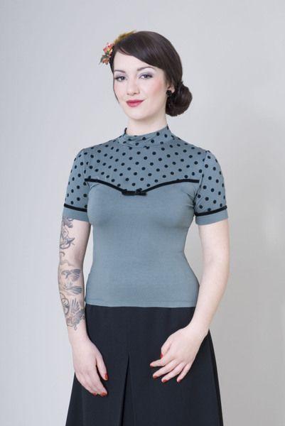 """Shirt """" Eleanor"""" Violet Gr.M von Frozen Hibiscus auf DaWanda.com"""
