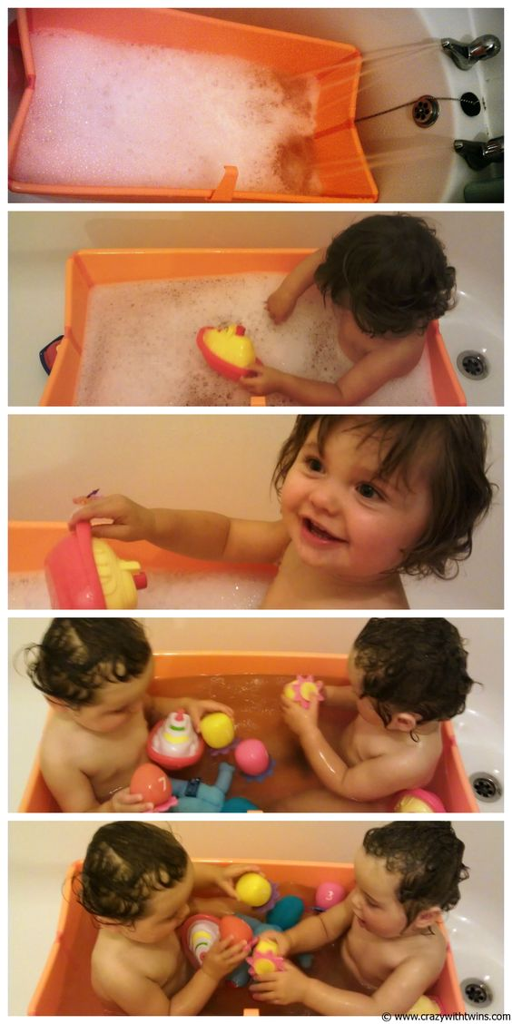 Twins in the Stokke Flexi Bath | Bath Time with Baby | Pinterest ...