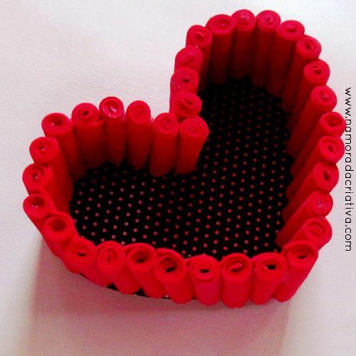 DIY: Cestinha em formato de coração: