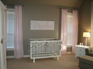 taupe and pink nursery die baba kamer idees jes pinterest taupe pink curtains and nurseries