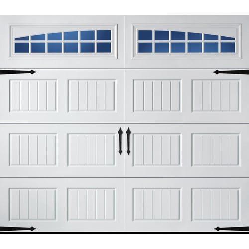Pella Carriage House 96 In X 84 In Insulated White Single Garage Door With Windows Lowes Com In 2020 Single Garage Door Carriage House Garage Doors Garage Door Design