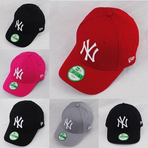3193f05ba07 ... usa new era 9forty ny new york yankees child kids adjustable red grey navy  hat cap