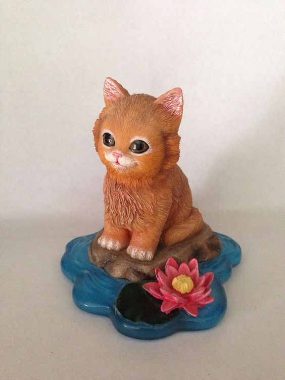 Purr fect Adventure Hamilton Collection Cat Figurine Jurgen Scholz Happy | eBay