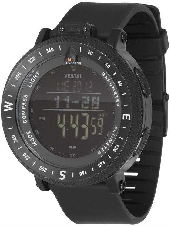 Digital Indicator With Rotatable Bezel : Vestal gdedp the guide altimeter barometer compass