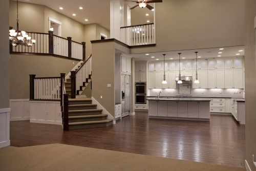 Love this: Open Floor, House Ideas, Wall Color, Dream House, Living Room