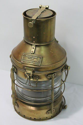 Old Kerosene Lanterns For Sale Vintage Anchor Light Nautical Marine Oil Lantern Made In