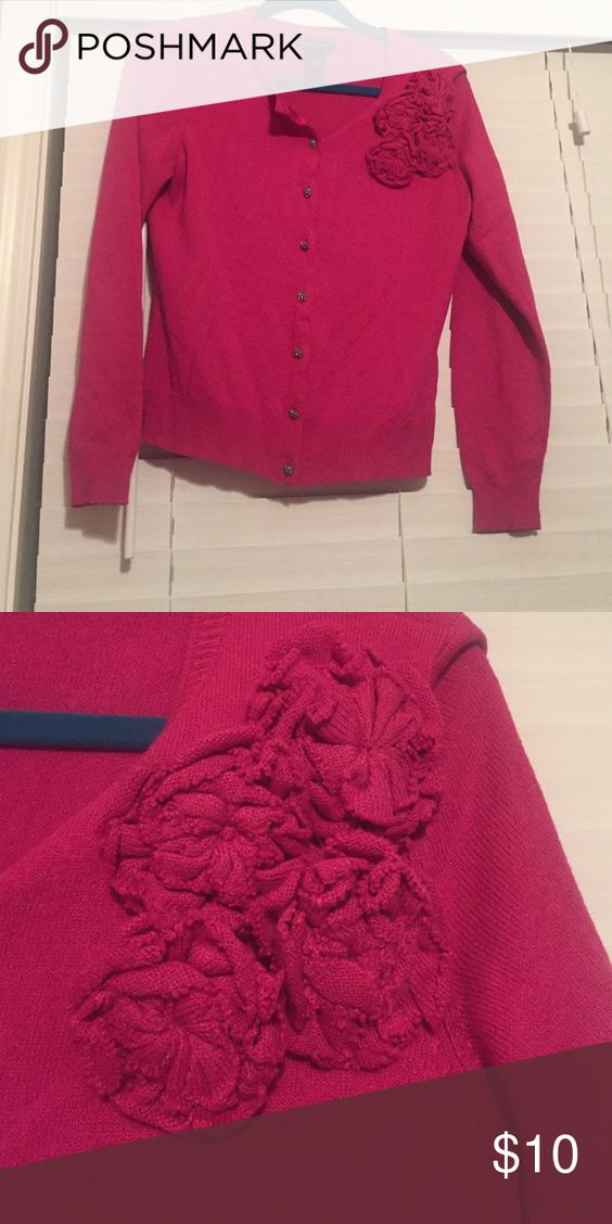 Embellished cardigan 100% acrylic cardigan embellished sweater with detailed buttons New York & Company Sweaters Cardigans