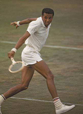 Arthur Ashe was the first African American player to compete in the international sport of tennis at the highest level of the game.