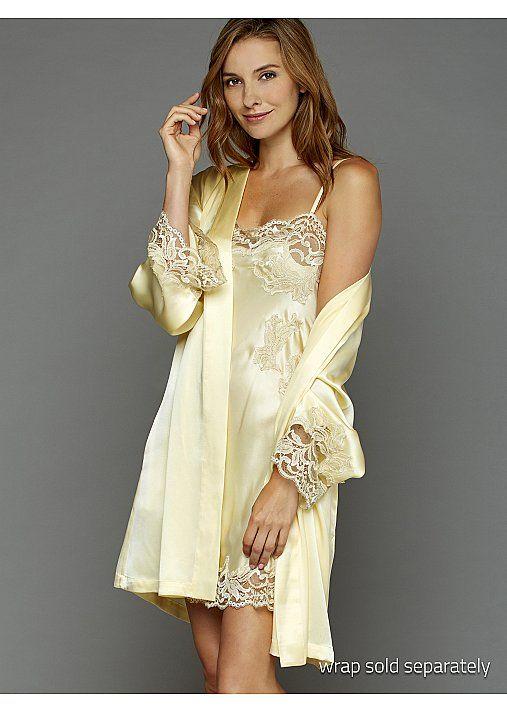 Julianna Rae Womens Moonlight Serenade Silk Nightgown