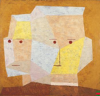 Paul Klee  - Two Heads