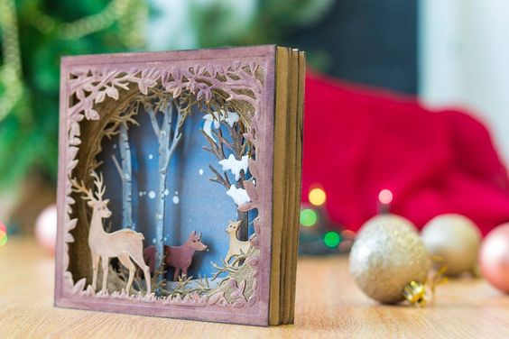 The Gemini Create-a-Card Build a Scene Metal Dies let you create a stunning 3D scene as your card. Build up this gorgeous scene to create traditional style cards. Decorate the scene using the dies provided and create a slightly different scene each time.