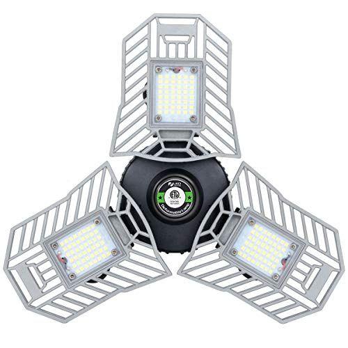 led garage lights deformable 60w light 6000lumen e26 e27 illumina lighting ceiling new fan fitting