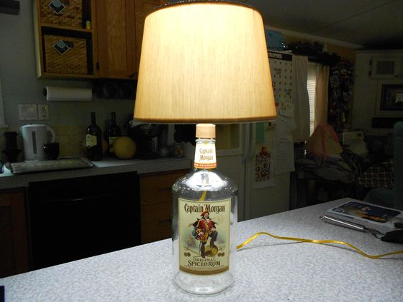 How to Make a Lamp with a Liquor Bottle for the Man Cave...