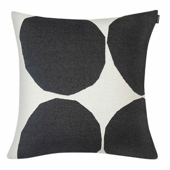 Marimekko Kivet Ivory Black Large Throw Pillow Throw Pillows