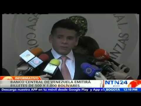 Banco Central de Venezuela anuncia circulación de billetes de alta denom...