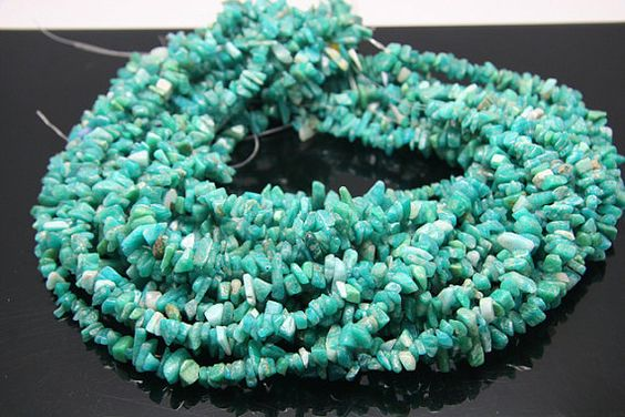 1strand  natural russian amazonite chip sized 8mm by 3yes on Etsy