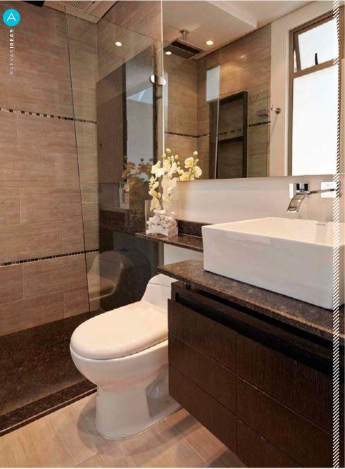 Los pisos y sanitarios corona le dan a este ba o un aspecto moderno limpio y agradable - Sanitarios bano ...