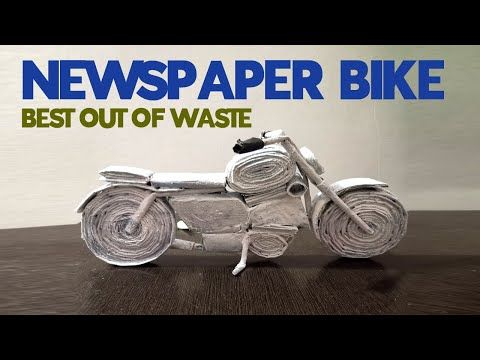 Newspaper Crafts Motorcycle Using Newspaper Best Out Of