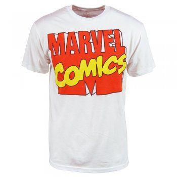 Freeze Mens Marvel Comics Logo T Shirt White