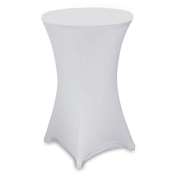 Stehtischhussen Stretch Husse für Stehtisch Bistrotisch 80cm Hochzeit weiß Tisch