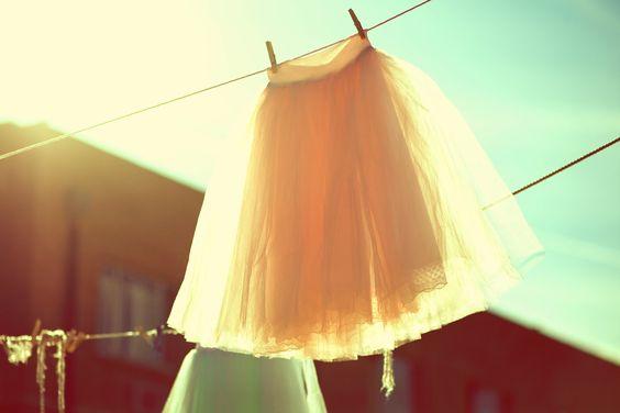Hand Dyed Tea Length Tulle Skirt. $260.00, via Etsy.