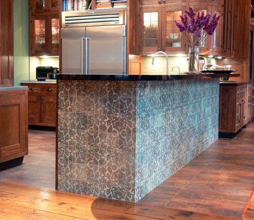 A Tiled Kitchen Island