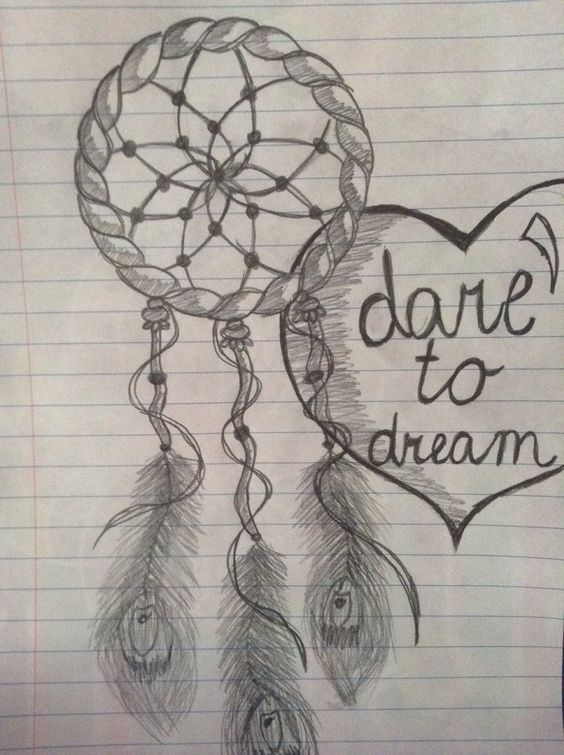 Dreamcatcher drawing tutorial
