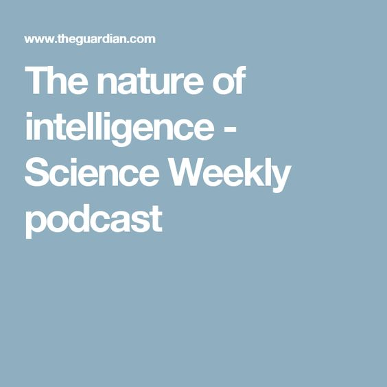 The nature of intelligence - Science Weekly podcast