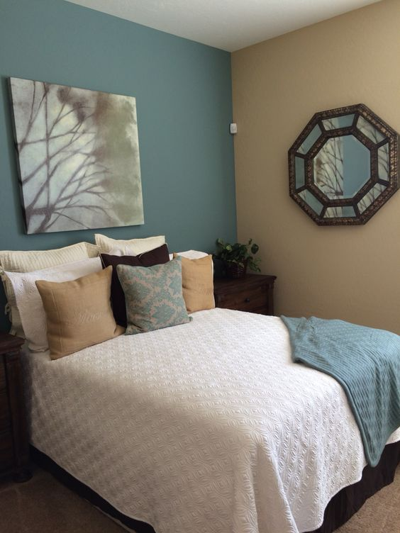 Sherwin Williams Paint- Moody Blue & Row House Tan