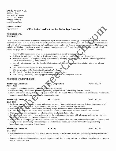 Pin On Technical Support Resume Samples
