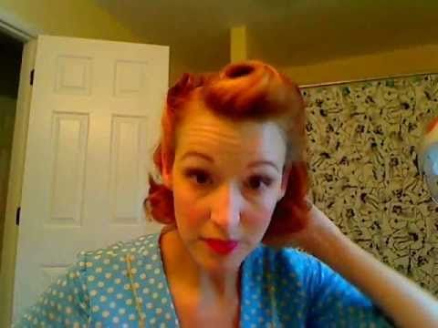 Victory Rolls on Short (Bobbed) Hair...1940's Reverse Rolls Hairstyle #vintage #tutorial