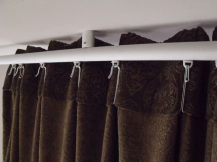Curtain Rods ceiling mounts for curtain rods : Ikea KVARTAL ceiling mount, how to get curtains flush with ceiling ...