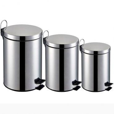 [RICARDOMOB]Kit 3 Lixeiras Capacidade De 3l ,5l E 12l,balde Interno Removível- R$127,30