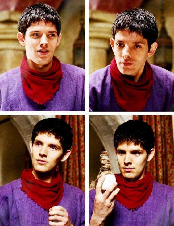 that awkward episode where Merlin wore purple instead of blue and the world broke...